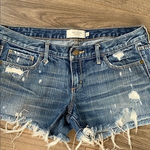 Distressed Custom cut Abercrombie & Fitch Shorts